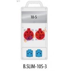 Rozdzielnica R-BOX SLIM 10S 1x16A/5p, 1x32A/5p, 2x230V zabezp. 1xM.01-B32/3, 1xM.01-B16/3, 2xM.01-B16/1, IP44