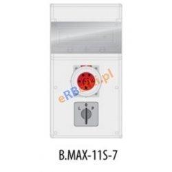 Rozdzielnica MAX BOX-11S 1x63A/5p, wył. (L/P), IP 65