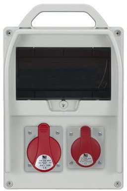 Rozdzielnica R-BOX 300 9S 1x32A/5p, 1x16A/5p, puste okno, IP44