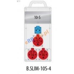Rozdzielnica R-BOX SLIM 10S 2x16A/5p, 1x32A/5p, 1x230V zabezp. 1xM.01-B32/3, 2xM.01-B16/3, 1xM.01-B16/1, IP44