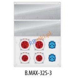Rozdzielnica MAX BOX-32S 2x32A/5p, 2x16A/5p, 2x230V, IP65