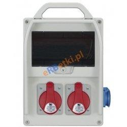 Rozdzielnica R-BOX 300R 9S 2x32A/5p, 1x230V, zabezp. 1xM.01-B32/3, 1xM.01-B16/1, 1xM.02-4/40/0,03, IP44