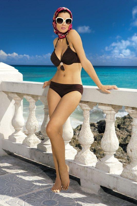 Kostium kąpielowy Beatrice M-134 (33) Brązowy