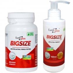 Zestaw Powiększający Penisa BIGSIZE+Gel