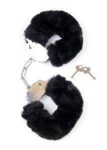 Kajdanki Fetish Boss Series- Furry Cuffs Black