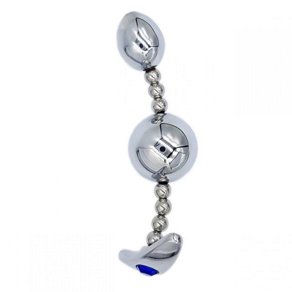 Stalowy elastyczny korek analny do noszenia i zabawy