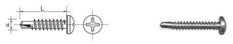 WKRĘT SAMOWIERTNY OCYNKOWANY D7504M-H 4.8*25MM