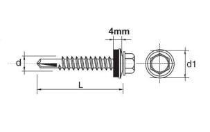 WKRĘT SAMOWIERTNY IMPAX Z EPDM #5MM RAL8017 5.5*50MM