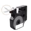 10x Taśma do DYMO D1 43613 7m 6mm biało czarna zamiennik GP-DY43613 x10