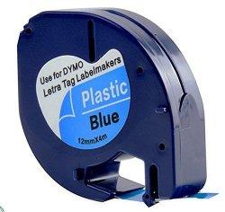 Taśma do Dymo LetraTag 59426 12mm x 4m Niebieska Plastik - zamiennik GP-DY91205