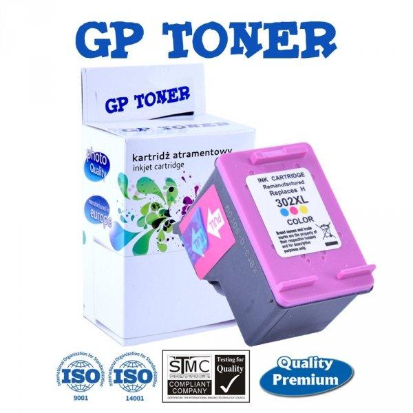 Zamiennik Tusz do HP 302XL DeskJet 1110 2130 3630 4520 3830 - GP-H302XL CMY Kolor