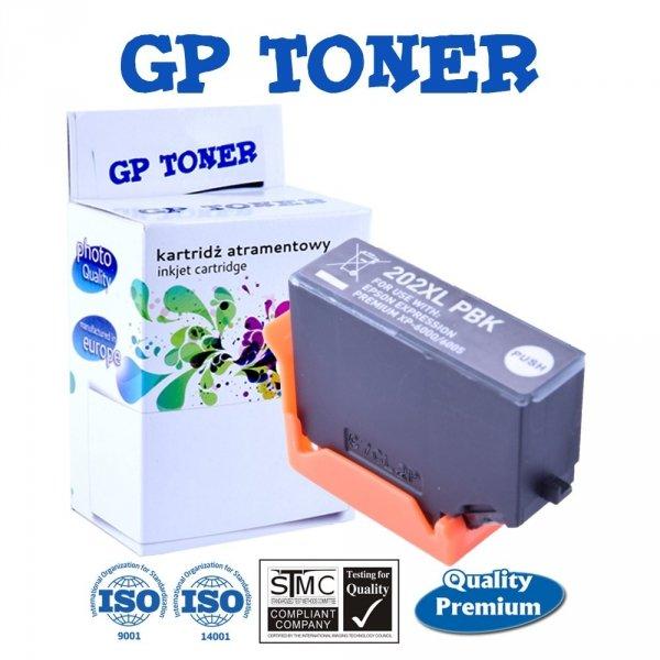 Tusze do Epson 202XL Expression Premium XP-6000 XP-6005 XP-6100 - GP-E202PBK - Fotograficzny Czarny