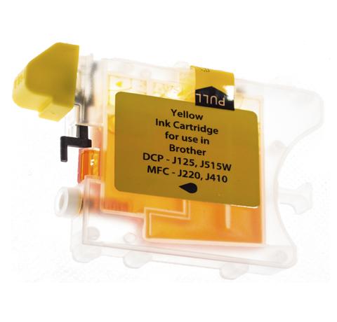 Tusz Zamiennik Brother LC985Y - MFC J220, J265W, J410, J415W, DCP J125, J315W, J515W - GP-B985Y Yellow