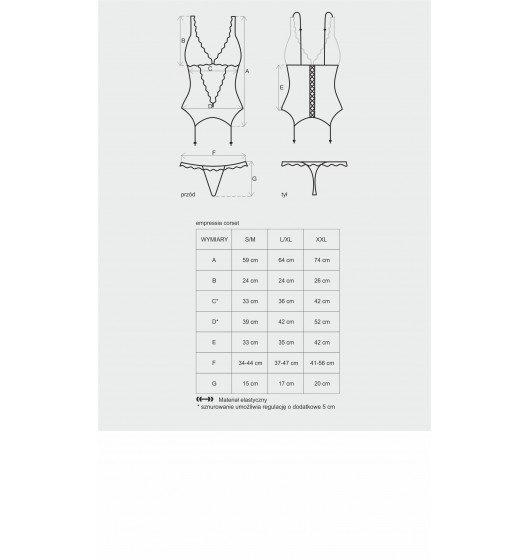 Emperita gorset i stringi L/XL