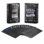 W 100% plastikowe karty do pokera DELUXE BLACK