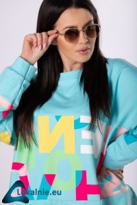 oversize'owa bluza z kolorowym printem