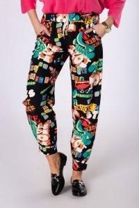 wzorzyste spodnie typu jogger