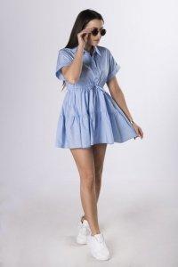 koszulowa sukienka z trokami