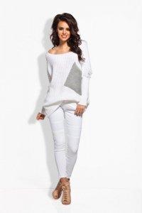 LS166 Sweter oversize z kieszenią