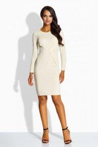 L219  Elegancka sukienka z zakładką w talii