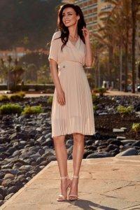 Zwiewna sukienka kopertowa L255