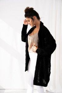 Ażurowy sweter LS324