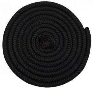 Skakanka gimnastyczna - 3 m, kolor czarny