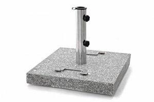 Stojak Parasol - granit i stal - 45 x 45 cm