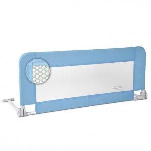 Barierka do łóżka dla dzieci 102 cm, niebieskie