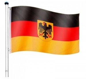 Maszt wraz z flaga Niemcy - 650 cm