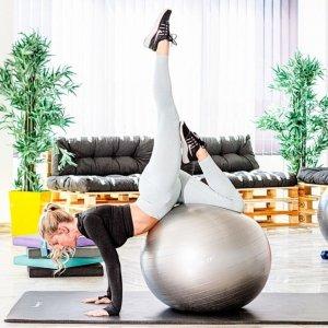MOVIT Piłka gimnastyczna z pompką, 85 cm, szara