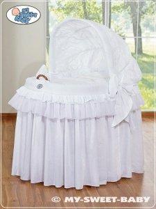 Kosz Mojżesza z budą- Little Prince/Princess biały