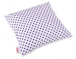 Poszewka na poduszkę - grochy czarne na biały tle