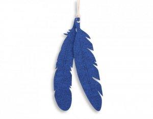 Dekoracyjne pióra z filcu 2szt. - niebieski