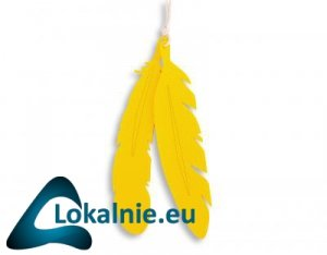 Dekoracyjne pióra z filcu 2szt. - żółte