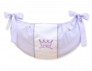 Przybornik- Torba na zabawki- Little Prince/Princess fioletowe