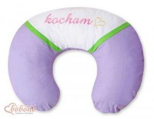 Poduszka rogal- Fasolka do karmienia- Kocham fioletowo-zielone haft (PL)