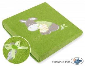 Kocyk polarowy- Osiołek Lucek zielony