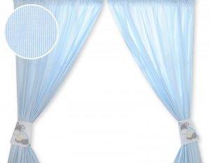 Zasłonki do pokoju dziecięcego- Osiołek Lucek niebieski