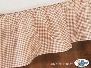 Falbanka maskująca 120x60cm- Dobranoc brązowe