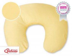 Poduszka rogal- Fasolka do karmienia- Wiszące serduszka paseczki żółte