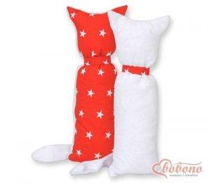 Kot przytulanka dwustronna - Simple czerwone gwiazdki