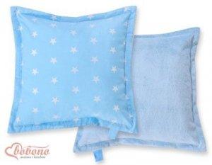 Poduszka dwustronna- Gwiazdki niebieskie