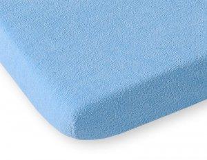Przescieradło frotte 120x60cm- niebieskie