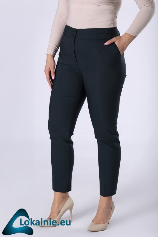 spodnie cygaretki z nogawkami w kant