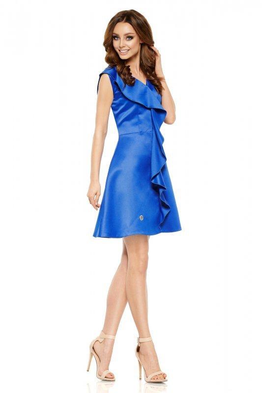 Oszałamiająca sukienka z falbaną L259