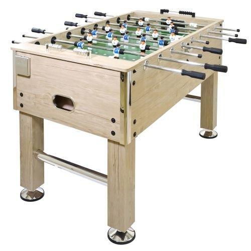 Piłkarzyki stolik jasne drewno 140x73x87cm