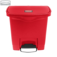 Kosz Slim Jim® Step-On 15L Resin Containers red