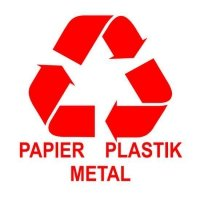 Etykieta do segregacji PAPIER,PLASTIK,METAL