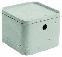 Pojemnik BETON XS kwadrat z pokrywą